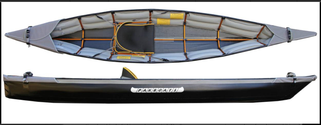 KAYAKS THAT ARE EASY TO HAUL AND TRANSPORT- PUFFIN SACO AND SARANAC BY PAKBOATS FOLDING KAYAK