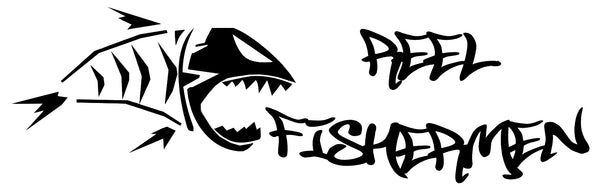REEL FISHERMEN REELFM LOGO SLOGAN- FISHING GEAR AND SUPPLIES