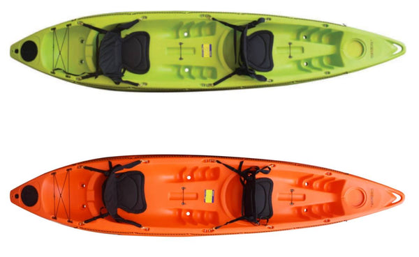 ROAMER 2 ll SEASTREAM KAYAKS 12 FOOT KAYAK LIME ORANGE