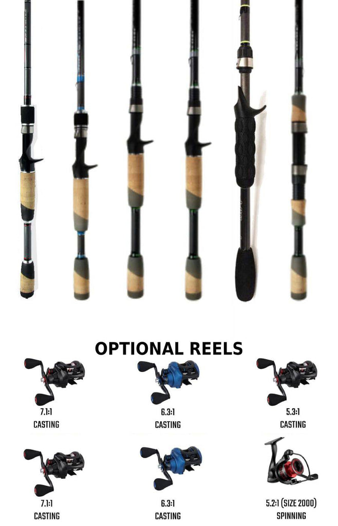 Rod Bundle For Bass Fishing- 6 Rods