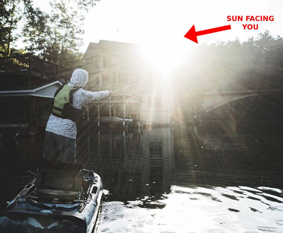 SUN FACING ANGLER- KAYAK BASS FISHING