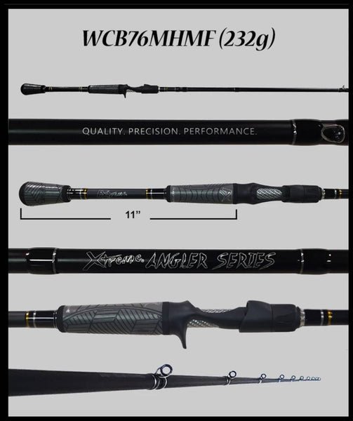 "XTREME ANGLER WCB76MHMF 7'6"" MEDIUM HEAVY POWER, MODFAST ACTION CASTING ROD"