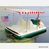AdventureGlass Mark Twain Fiberglass Pontoon Paddle Boat 4 People - Reel Fishermen