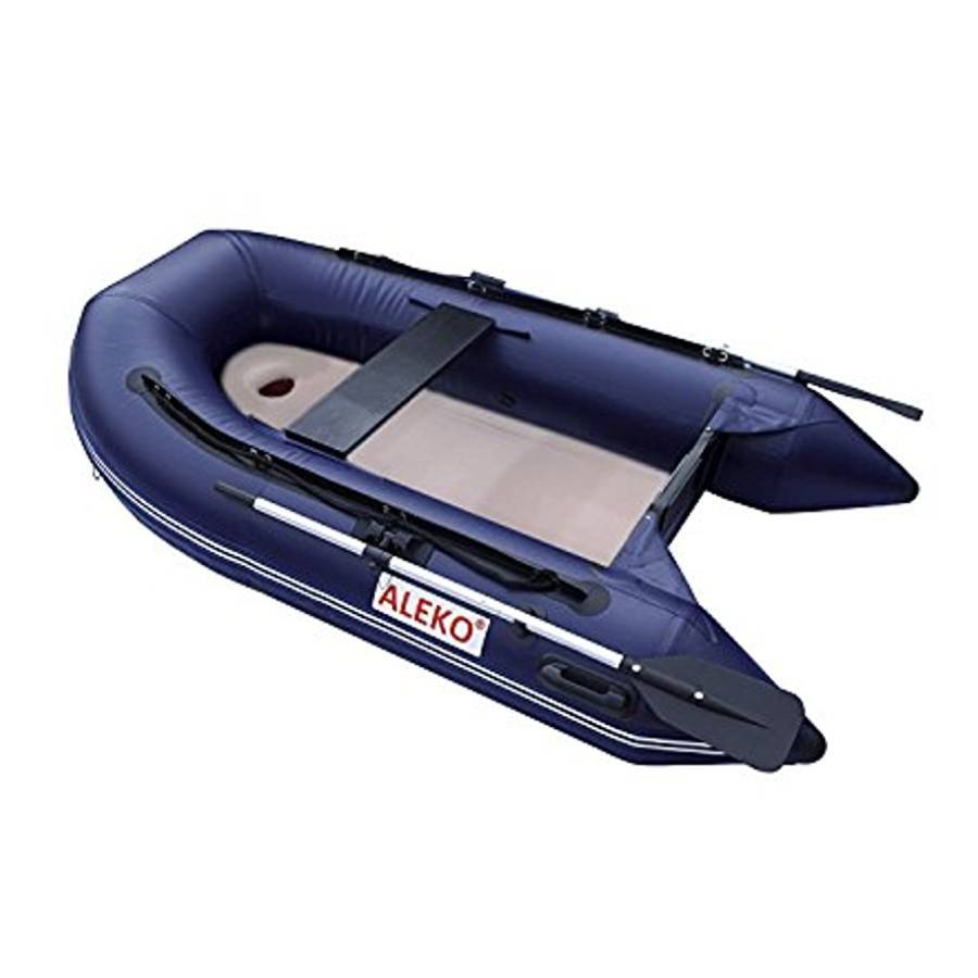 Aleko Inflatable Boat With Air Deck Floor- Blue - Reel Fishermen