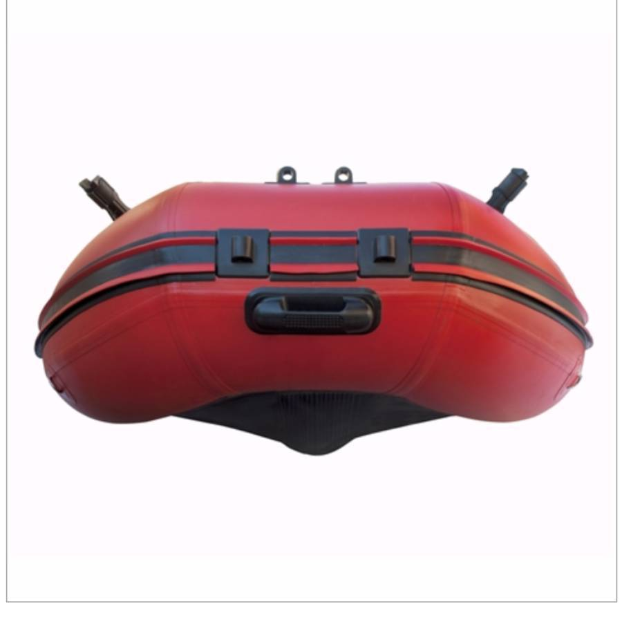 Aleko Inflatable Boat With Air Deck Floor- Red And Black - Reel Fishermen