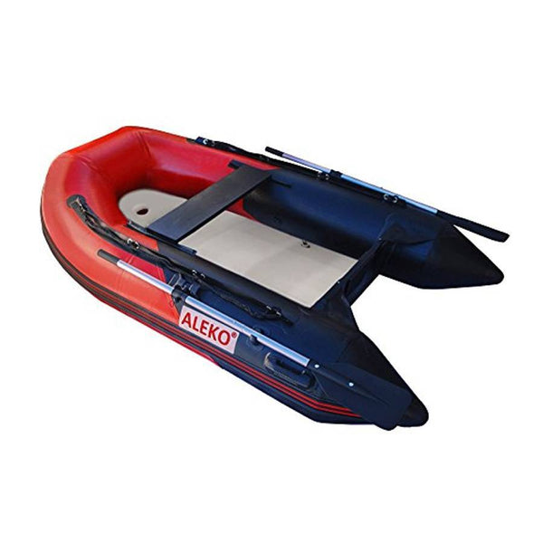 Aleko Inflatable Boat With Air Deck Floor- Red And Black