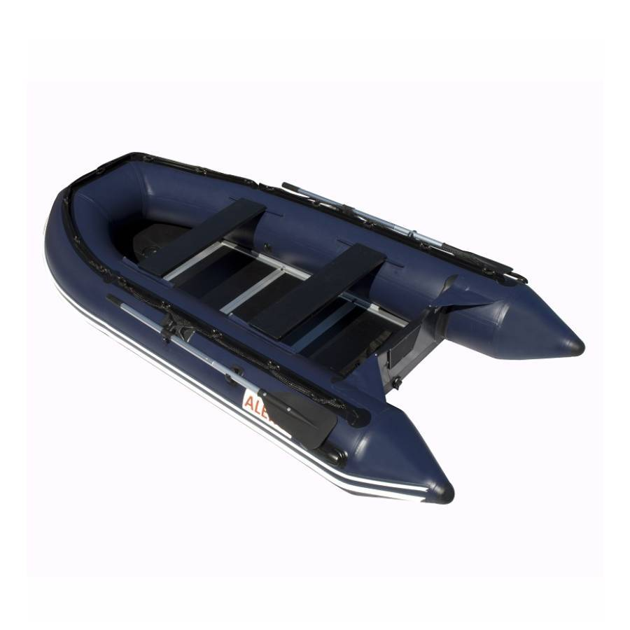 Aleko Inflatable Boat With Wood Floor 10.5 ft- Blue - Reel Fishermen