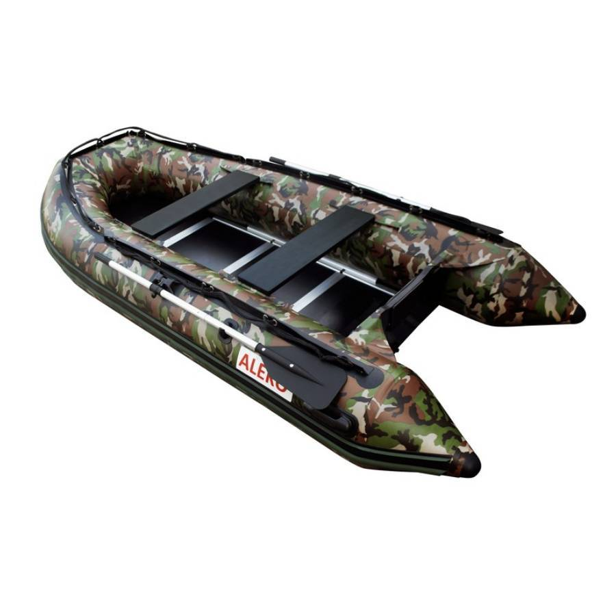 Aleko Inflatable Boat With Wood Floor 10.5 ft- Camouflage Style - Reel Fishermen