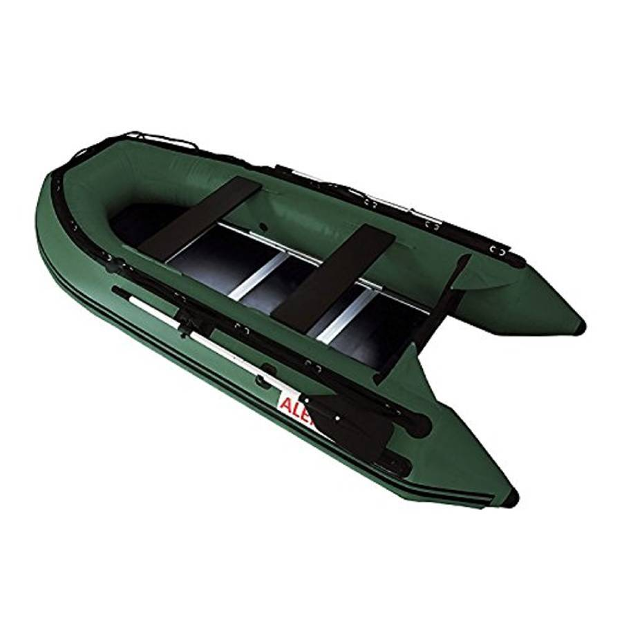 Aleko Inflatable Boat With Wood Floor 10.5 ft- Green - Reel Fishermen