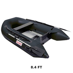 Aleko Pro Fishing Inflatable Boat- Black - Reel Fishermen
