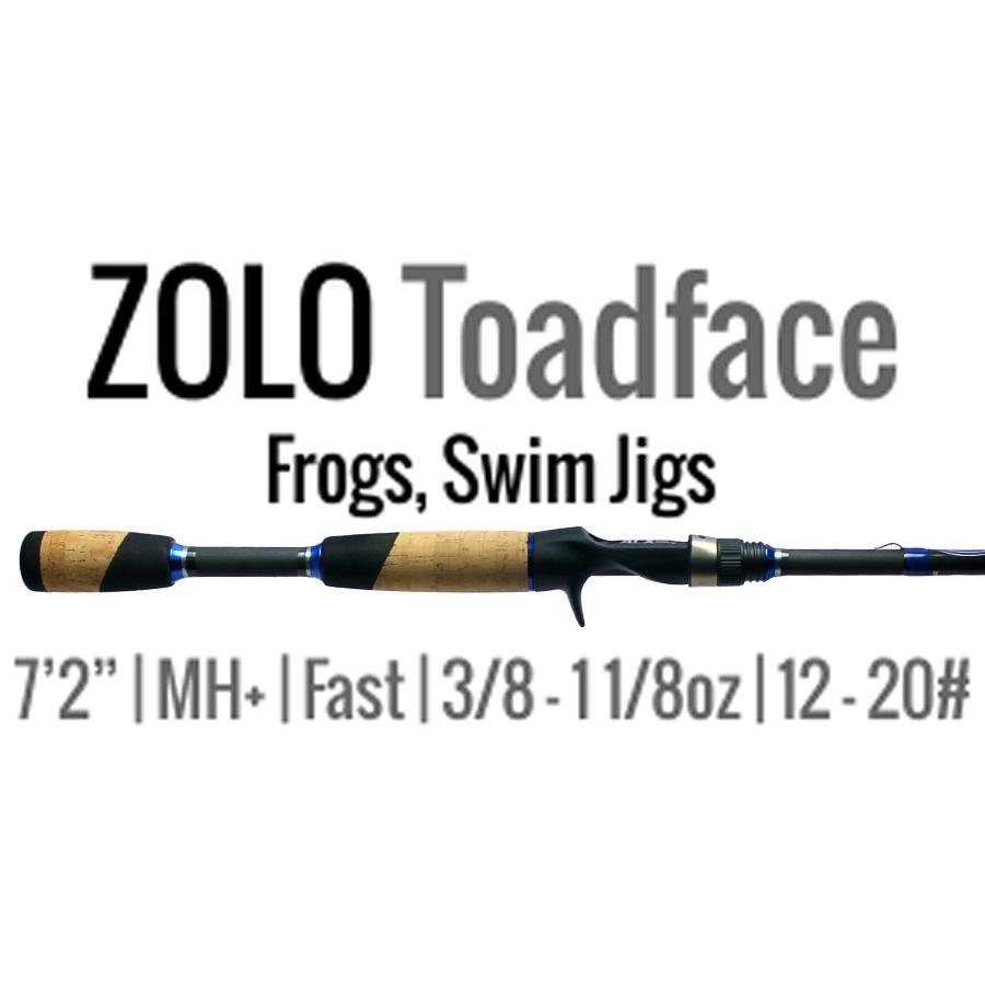 "ALX Rods ZOLO Toadface Casting Rod 7'2"" Medium Heavy Fast Carbon Fiber - Reel Fishermen"