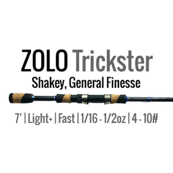 ALX Rods ZOLO Trickster Spinning Rod 7' L+, F (Shakey, General Finesse)