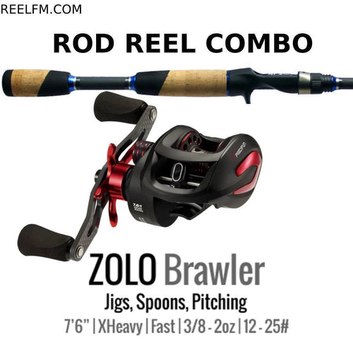 ALX Zolo Brawler Casting ROD REEL COMBO Set Up Jigs Spoon Pitching - Reel Fishermen