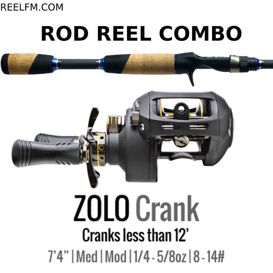 ALX Zolo Crank Casting ROD REEL COMBO Set Up- Smaller Cranks- Under 12' - Reel Fishermen