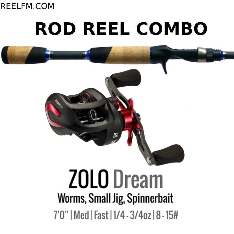 ALX Zolo Dream Casting ROD REEL COMBO Setup- Worms, Spinnerbait, Jig - Reel Fishermen