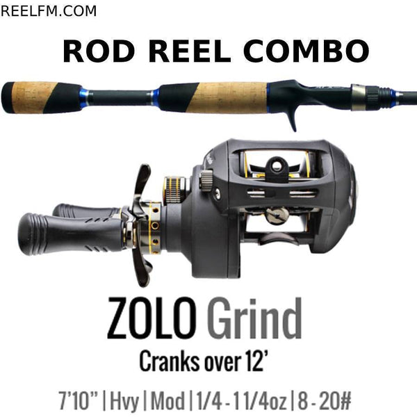 ALX Zolo Grind Casting ROD REEL COMBO Set up- Bigger Crankbaits Over 12'