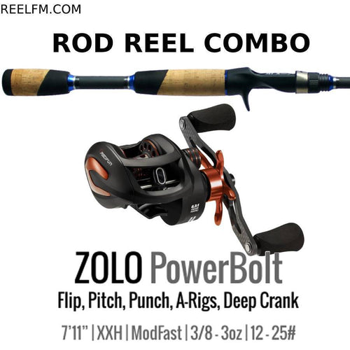 ALX Zolo Powerbolt ROD REEL COMBO Set Up Flip Pitch A-Rigs Deep Cranks - Reel Fishermen