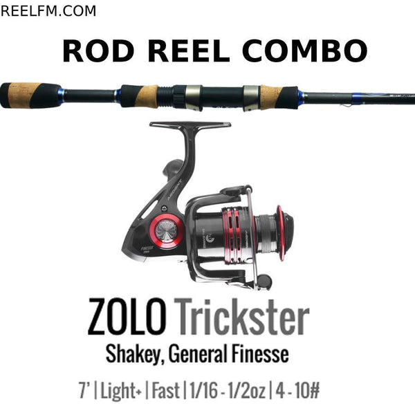 ALX Zolo Trickster Spinning ROD REEL COMBO Setup- Shakey/Finesse