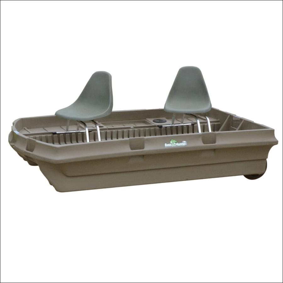 Bass Hunter Bass Baby- Mini Pontoon Bass Fishing Boat- 2 Persons - Bass Hunter