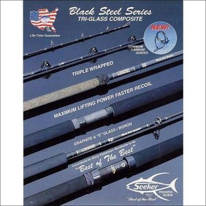 Black Steel Stand Up Rods- All Roller Black AFTCO by Seeker - Seeker