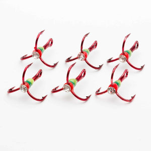 Crystal Reaper Treble Hooks (6pk) - Reel Fishermen