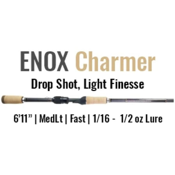 ENOX Charmer Spinning Rod by ALX (Drop Shot, Light Finesse)