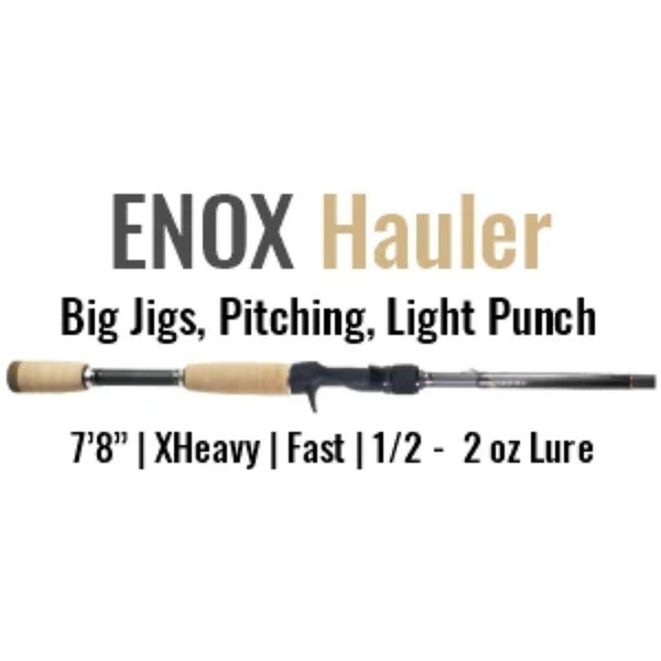 ENOX Hauler Casting Rod by ALX (Big Jigs, Pitching, Light Punch)
