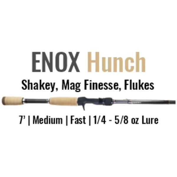 ENOX Hunch Casting Rod by ALX (Shakey, Mag Finesse, Flukes)