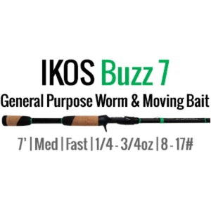 IKOS Buzz 7 Casting Rod by ALX (General Purpose Worm & Moving Bait) 7' M-F - ALX Rods
