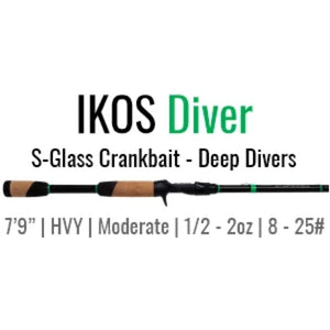 "IKOS Diver Casting Rod by ALX (Deep Divers) 7'9"" Hvy-Mod - ALX Rods"