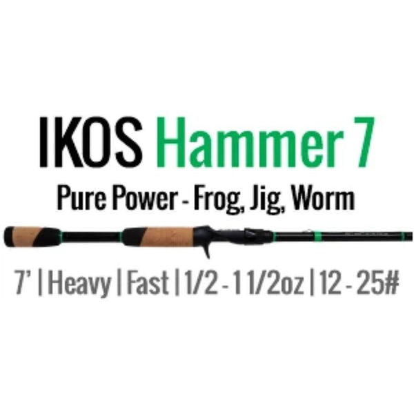 IKOS Hammer 7 Casting Rod by ALX (Frog, Jig, Worm) 7' H-F