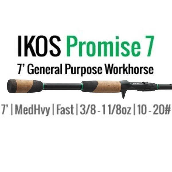 Ikos Promise 7 Casting Rod by ALX (General Purpose Workhorse) 7' MH-F