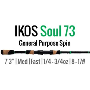 IKOS Soul 73 Spinning Rod by ALX (General Purpose Spin) - ALX Rods