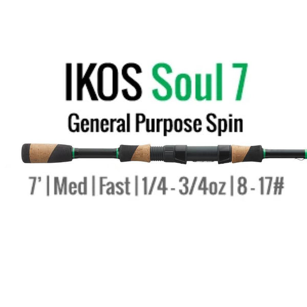 Ikos Soul ALX Rods All Around Spinning Rod 7' Medium Fast