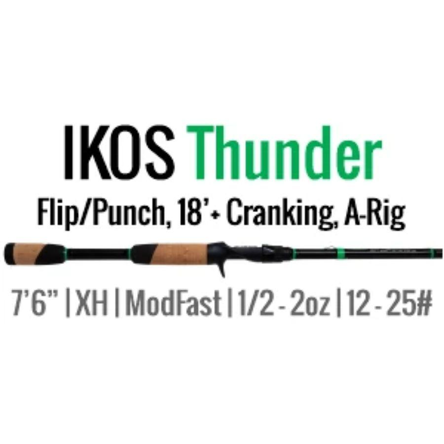 "IKOS Thunder Casting Rod by ALX (Flip/Punch, 18'+ Cranking, A-Rig) 7'6"" XH-MF - ALX Rods"