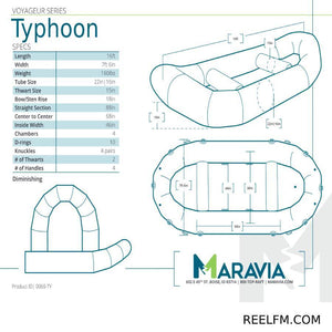 Maravia Typhoon 16' Inflatable Whitewater Raft 0069-TY - Reel Fishermen