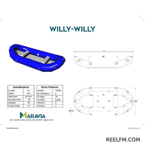 Maravia Willy-Willy Whitewater Raft 14'-4 Rowers/7 Paddlers 0069-WW - Reel Fishermen
