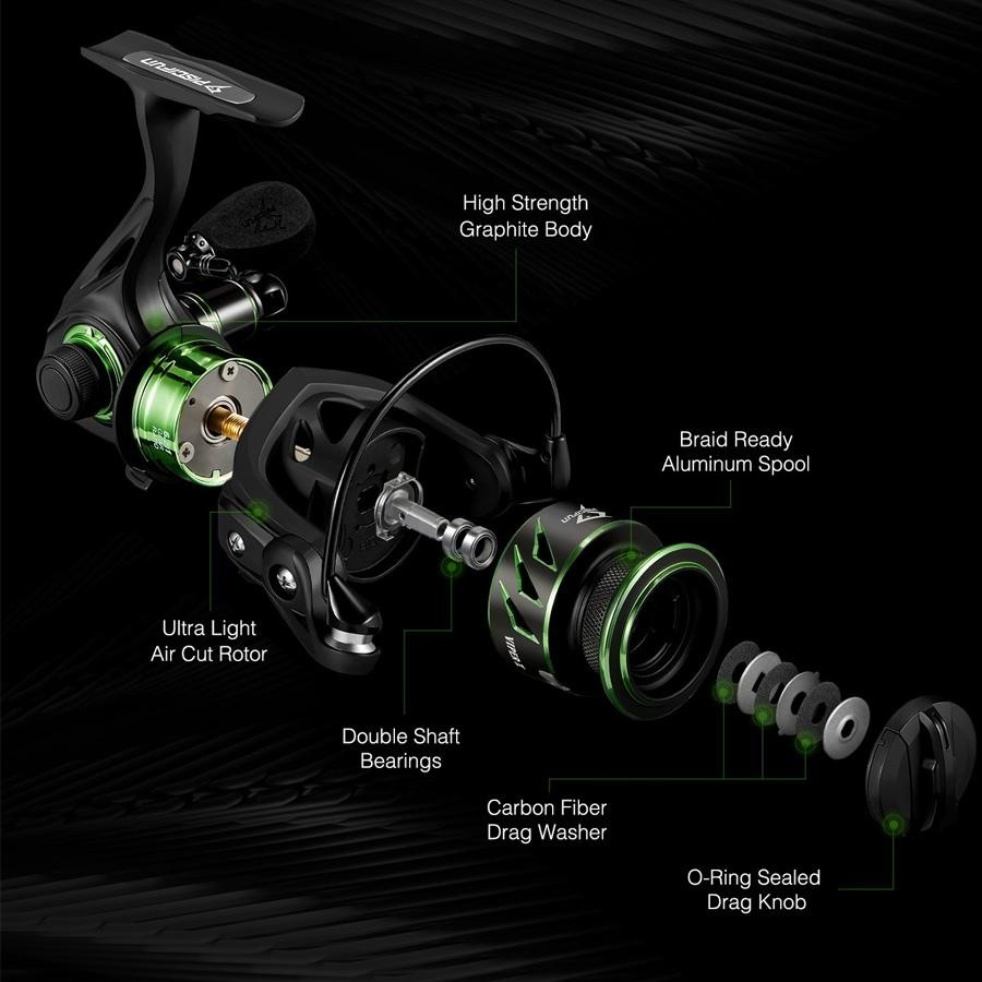 Piscifun Viper II Spinning Reel Saltwater/Freshwater 6.2:1- 10+1 Ball Bearings - Reel Fishermen