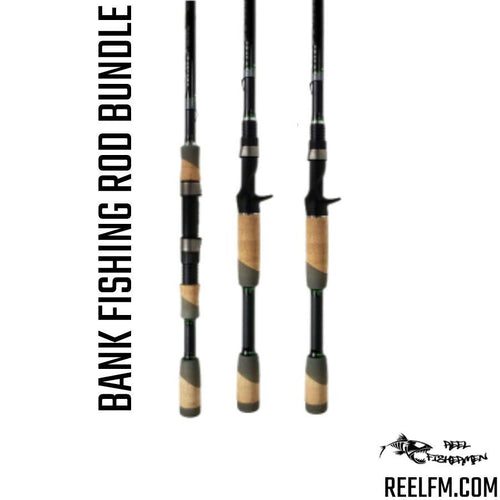 Rod Setup For Bank Fishing Bundle/Package (3 Poles) by ALX - Reel Fishermen