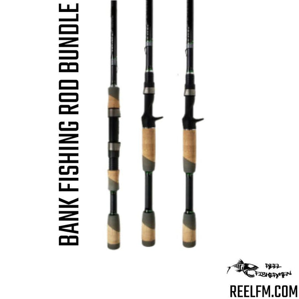 Rod Setup For Bank Fishing Bundle/Package (3 Rods) by ALX