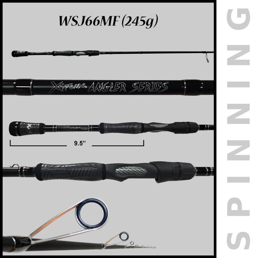 Xtreme Angler Series by FX Custom Rods- Bass Fishing Rods (Spinning) - FX Custom Rods