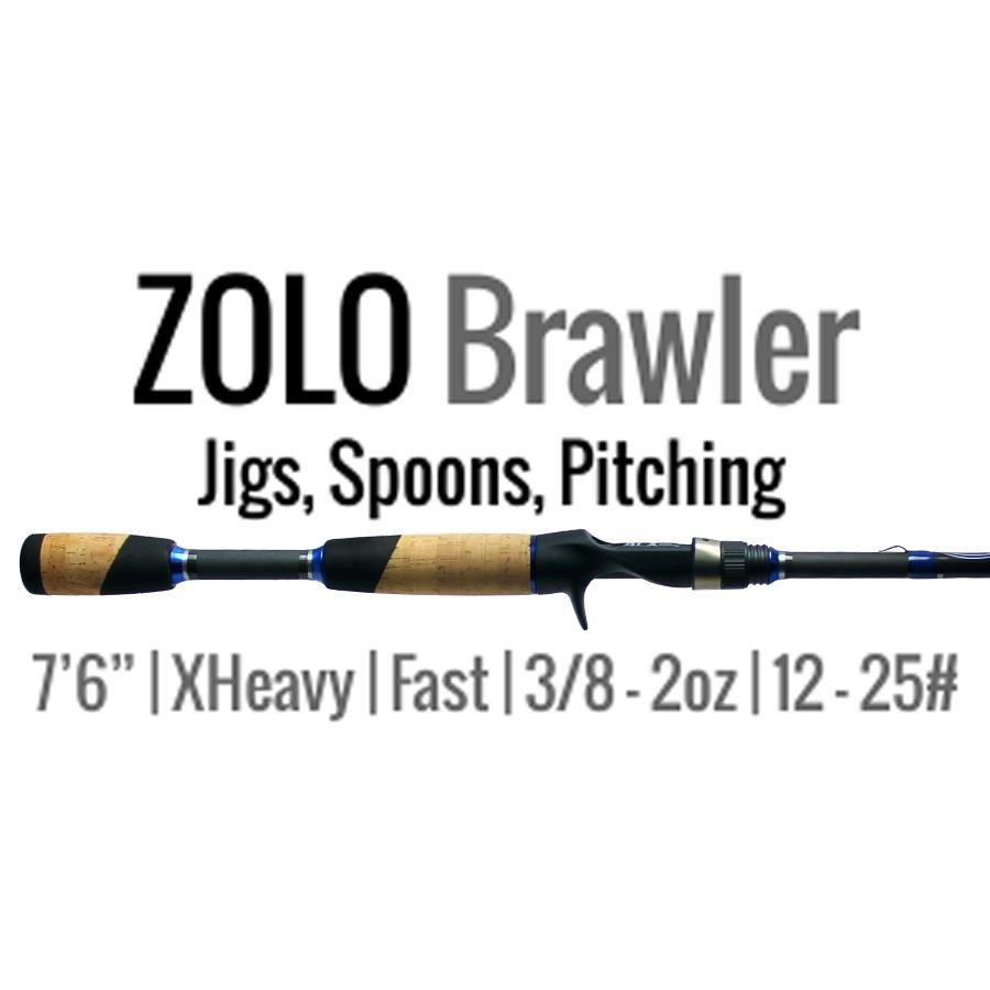 "ZOLO Brawler Jigging Rod Carbon Fiber 7'6"" Extra Heavy by ALX Rods - Reel Fishermen"