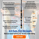 ZOLO McSmalls Spinning Rod by ALX (Spybait, Swimmers, NED Rig, Tube) - ALX Rods