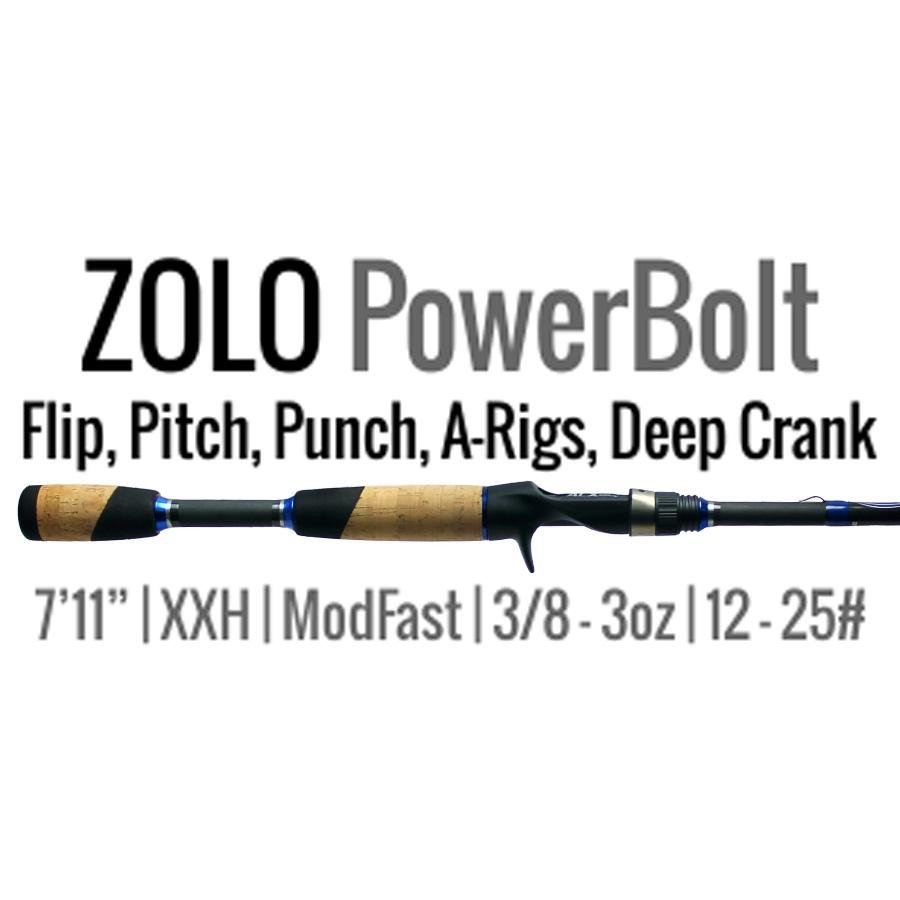 "ZOLO PowerBolt Bass Punch Rod 7'11"" XX Heavy ModFast by ALX Rods - Reel Fishermen"