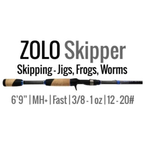 "ZOLO Skipper by ALX- 6'9"" Medium Heavy+, Fast- Casting Rod - ALX Rods"