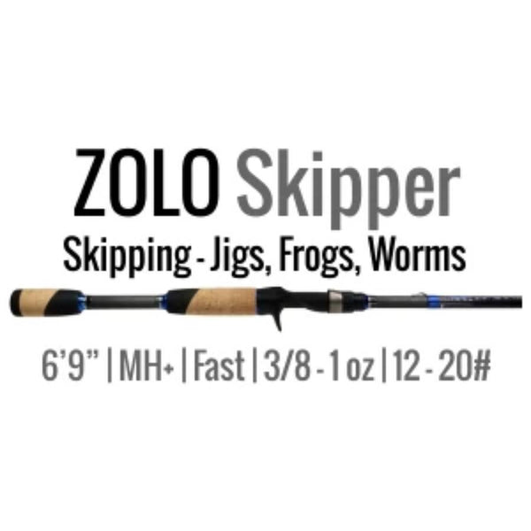 ZOLO Skipper Casting Rod by ALX  (Skipping- Frogs, Jigs, Worms) 6'9