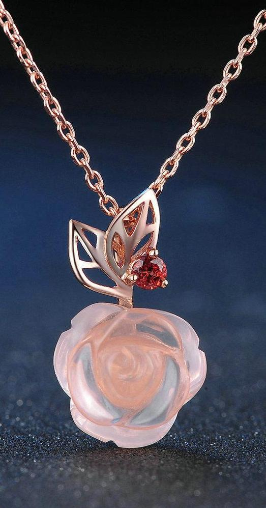 I Give You This Rose Necklace