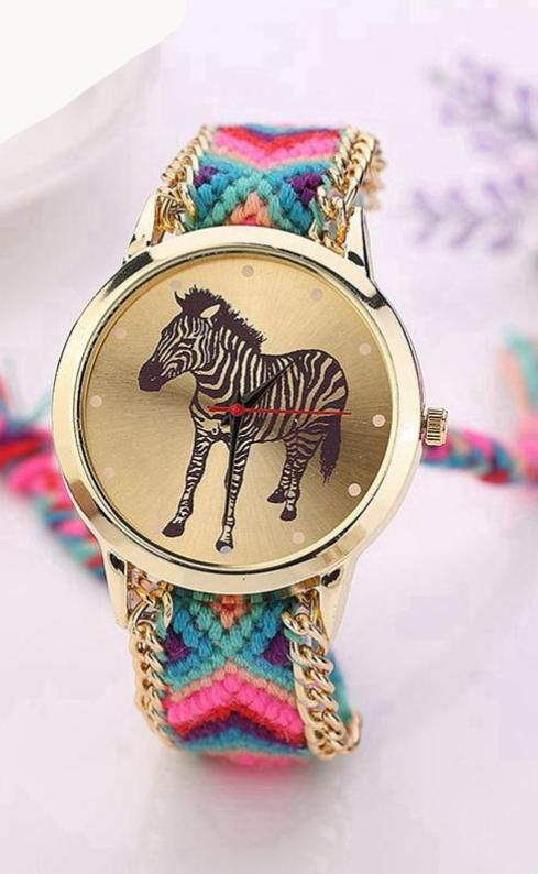 Zebra Fashion Watch