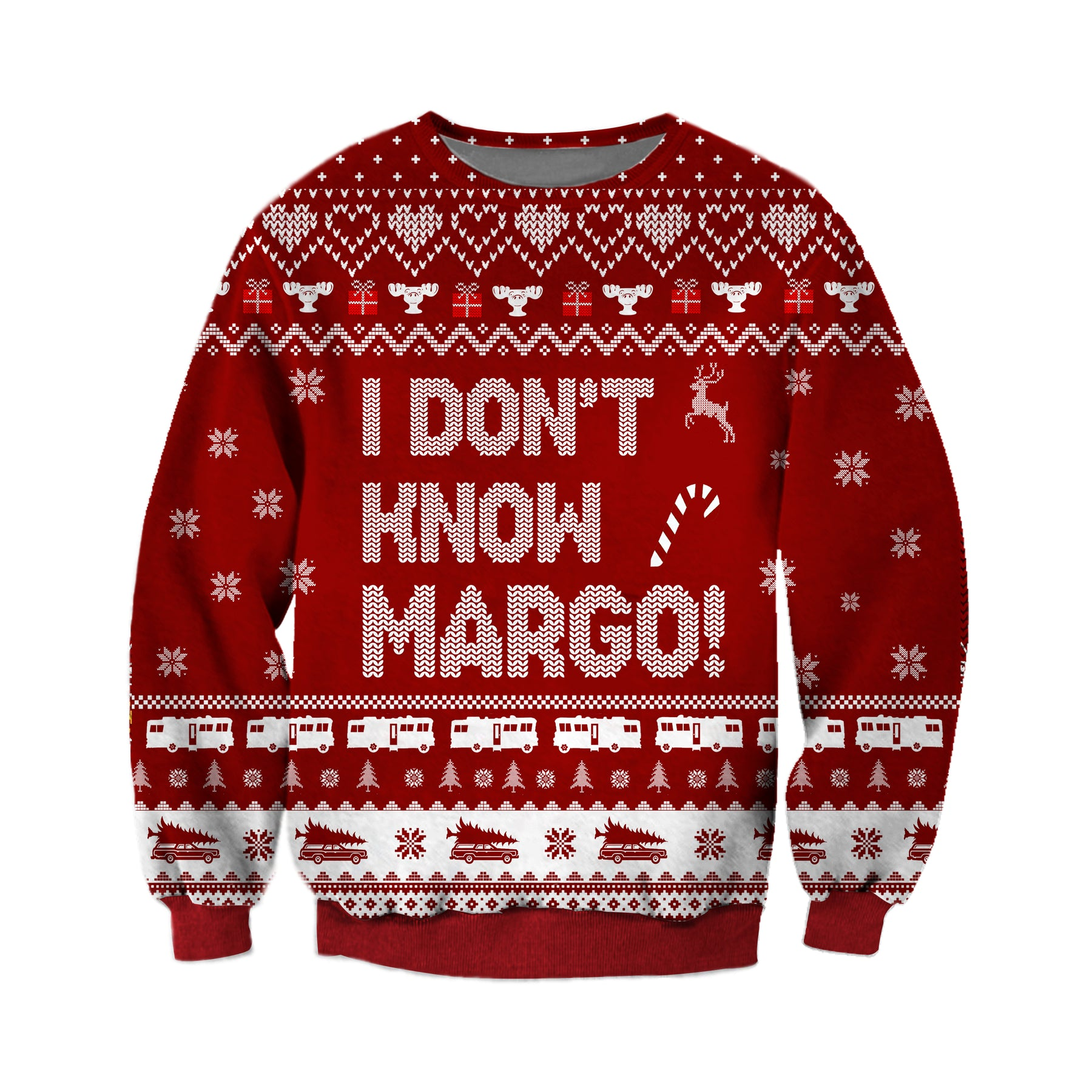 Todd And Margo Christmas Vacation Knitting Pattern 3d Print Ugly Sweater