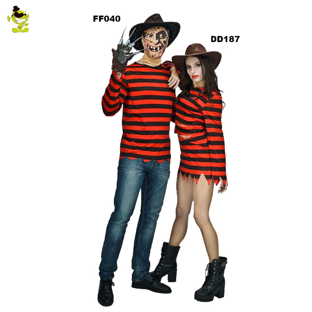 cosplay freddy killer costumes with claw halloween costume women